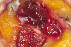 Mixed fruit jam as a background