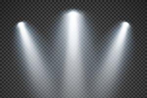 Bright lighting of spotlights vector