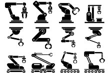 Industrial mechanical robot arms