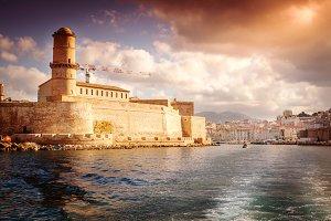 Marseille at sunset