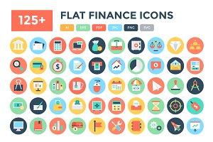 125+ Flat Finance Icons