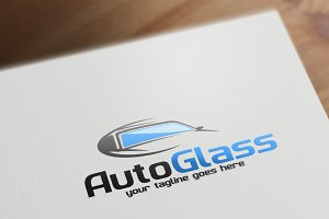 Auto Glass Logo Template