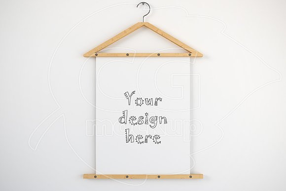 Free Clean poster hanger mockup 8x10