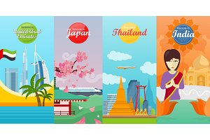 India, Emirates, Thailand, Japan