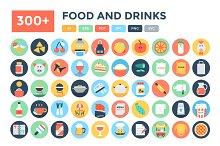 300+ Flat Food and Drinks Icons