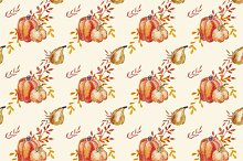 Watercolor pumpkin pattern
