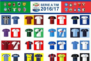 SERIE A 2016/17 Jersey Flat Icon