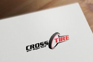 Moto Tire Logo Template