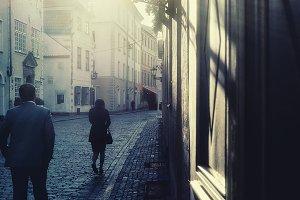 Morning. Vecriga. Riga. Latvia.