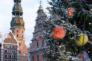 Winter. Riga. Latvia