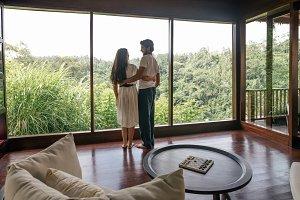 Couple in luxury resort room
