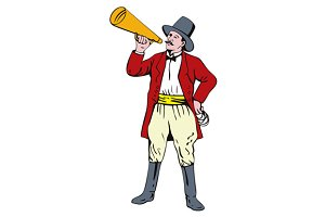 Ringmaster with Bullhorn
