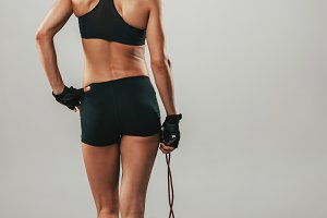 Fit healthy athletic woman