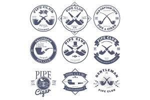Pipe Club Label and Badges