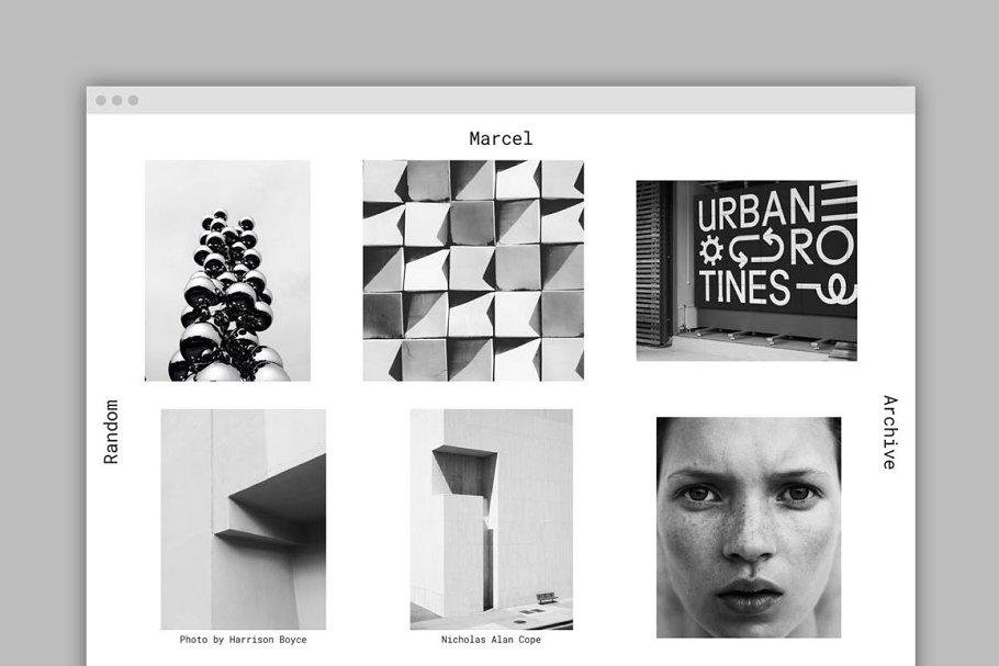 5f7f47dc1252 Marcel Tumblr Theme ~ Tumblr Themes ~ Creative Market