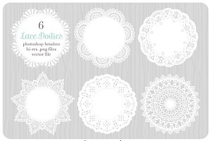 Digital Lace Doilies