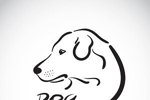 Vector of a dog head logo.