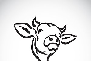 Vector of a cow logo.