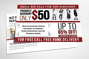 Big Day Sale Post Card