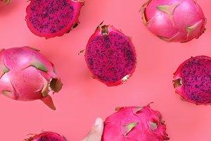 Sweet pink fruits