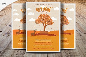 Autumn Festival Flyer Template V2