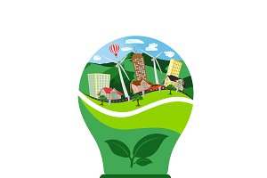 eco bulb, renewable energy concept