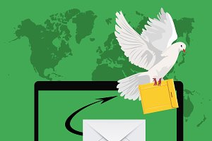 postal dove, email marketing concept