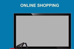 online shopping, monitor