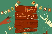 Halloween poster background card