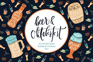 Beer Handdrawn Set — Oktoberfest!
