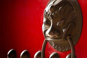 Chinese temple door handle