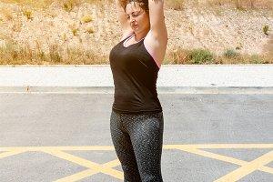 Woman doing sport