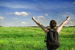Man winner traveler
