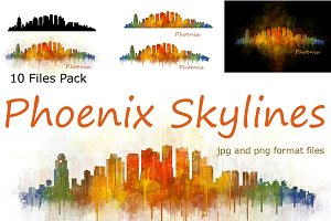 10 x Files Pack Phoenix AZ Skylines