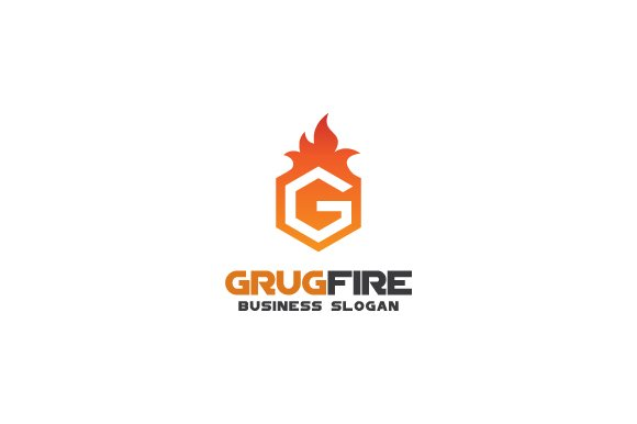 Letter G On Fire Logo Templates Creative Market