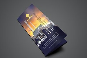 Template Trifold Oil and Gas Flyer