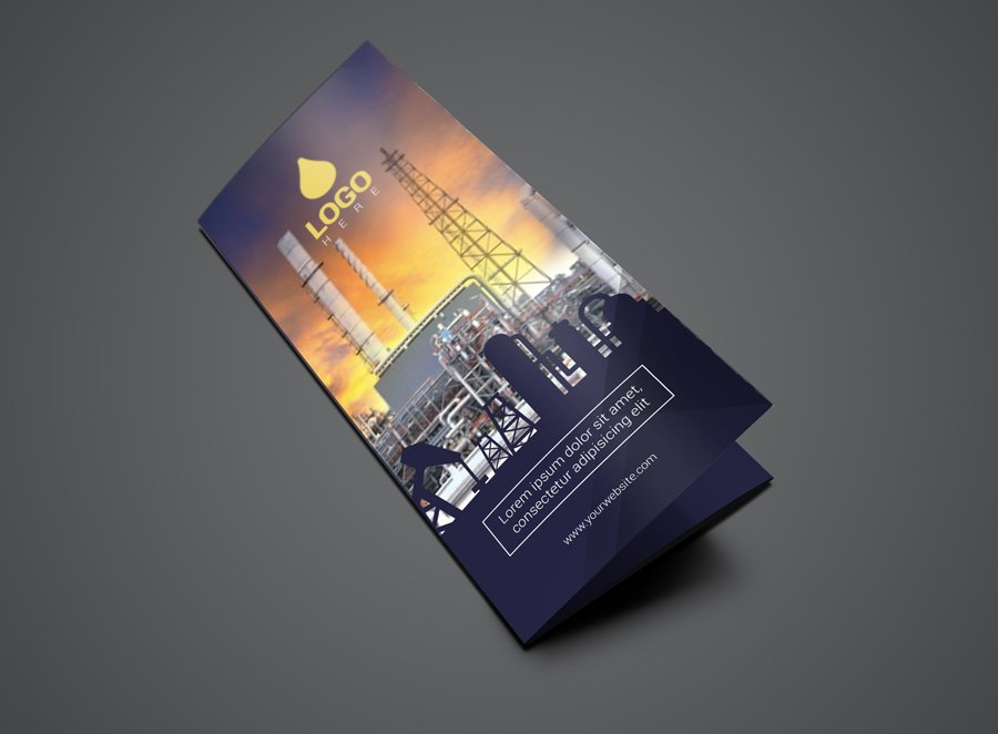 Template Trifold Oil And Gas Flyer Brochure Templates Creative