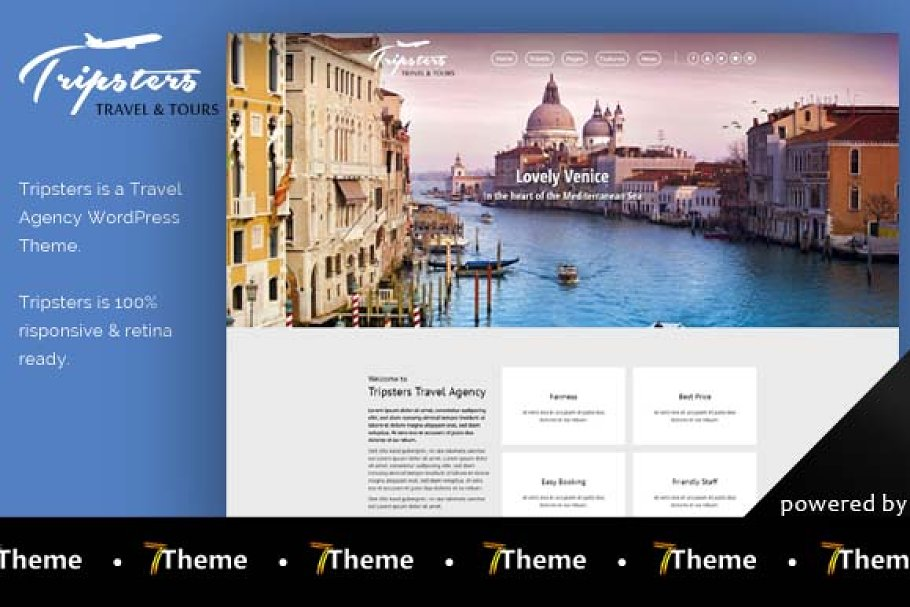 Tripsters - Travel Agency WP Theme