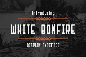 White Bonfire Display Font