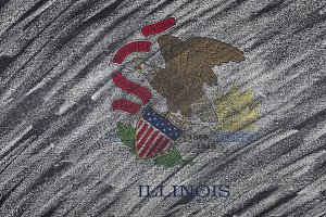 Illinois state flag.