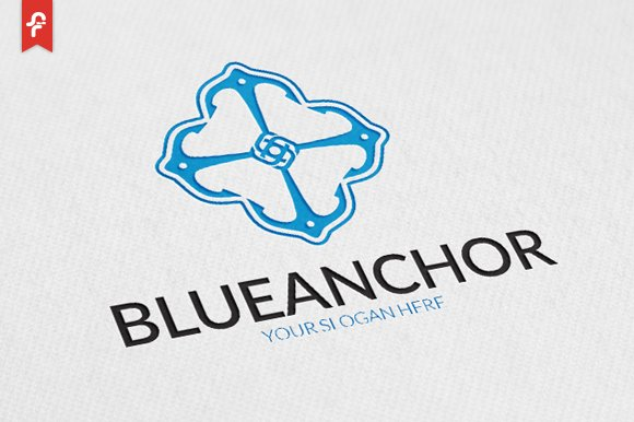 Blue anchor logo logo templates creative market thecheapjerseys Images