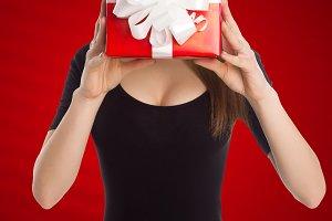 Model holding present box