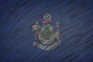 Maine state flag.