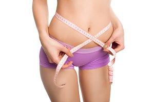 model doing measurements