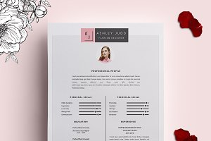 fashion designer resume template cv resume templates creative market