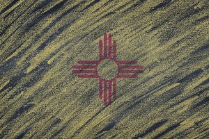 New Mexico state flag.