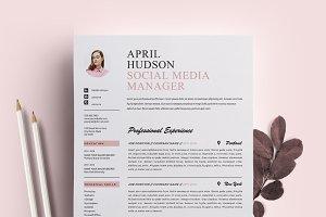 Social Media Resume Template / CV