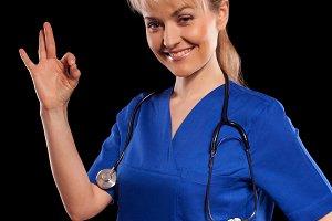 friendly doctor woman