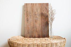 wood frame on table