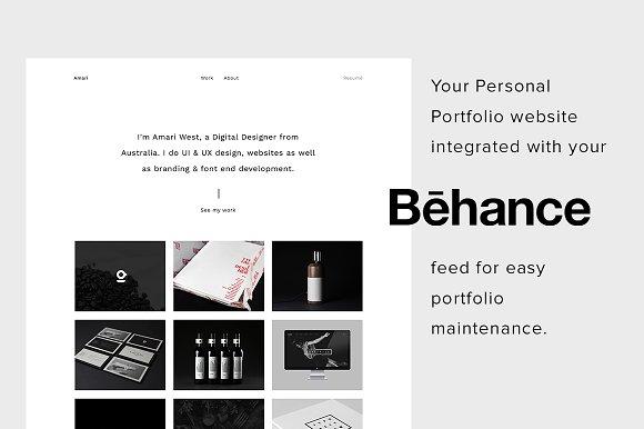 Amari Personal Portfolio Template Htmlcss Themes Creative Market